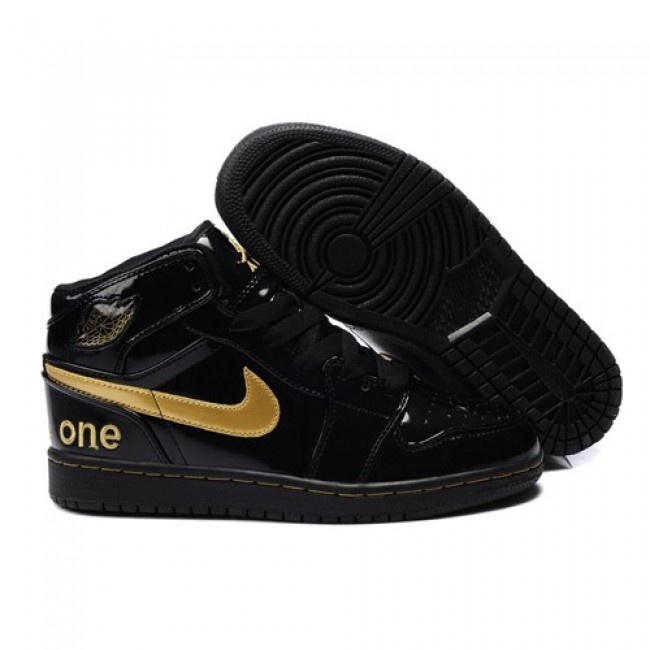 Supply New Air Jordan 1 I Mens shoes High Cut For Winter Black Yellow closeout sales
