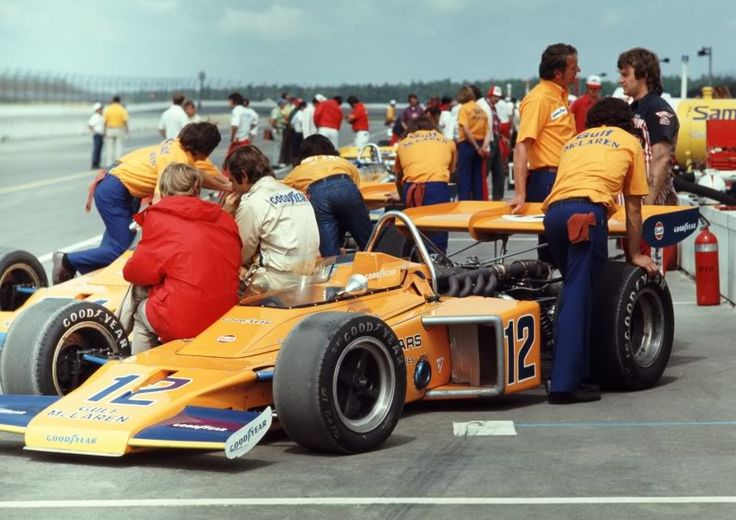 1972 - Peter Revson's (#12) Mclaren M-16B Pocono 500 - Qualified 26th - Finished 31st - Connecting-Rod