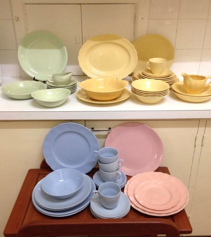 mixed johnsons of australia, grindley petalware, meakin pastel crockery