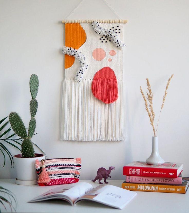 Made To Order Abstract Wall Hanging Woven Tapestry Abstract Art Organic Art Wall Rug Wall Textile Weaving Wall Decor In 2020 Weaving Wall Decor Crochet Wall Hangings Tapestry Weaving