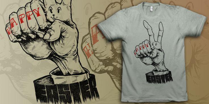 """Happy Easter"" t-shirt design by Killer Napkins"