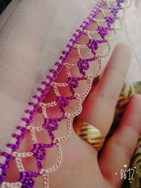 Kenar crochet işleme [] #<br/> | <br/> Crochet