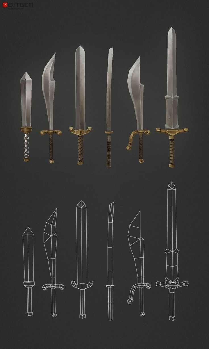 Low Poly Swords - 630 polys by bitgem