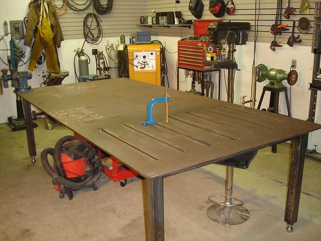 1000 images about weld welding welder table on pinterest for Plan fabrication table