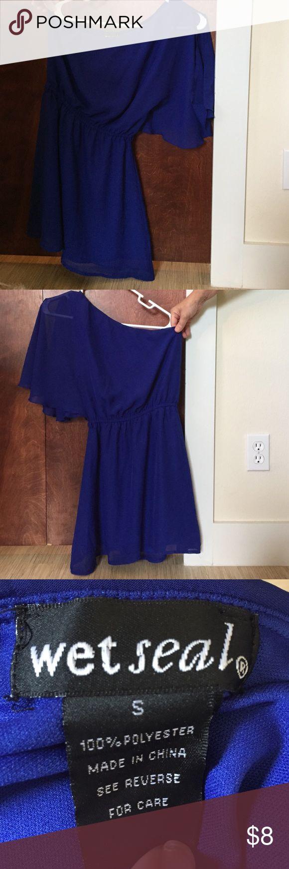 Royal Blue - One Strap Dress - Wet Seal Royal Blue - One Strap Dress - Wet Seal Wet Seal Dresses One Shoulder