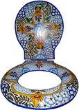 "Decorative Toilet Seat ""Light Blue"""