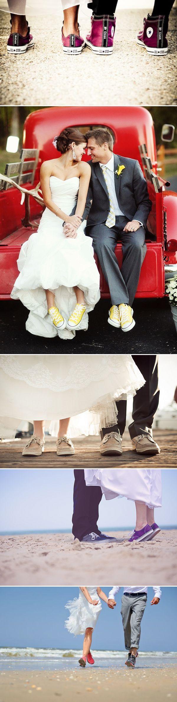 Matching Feet! 21 Creative Matching Wedding Shoes