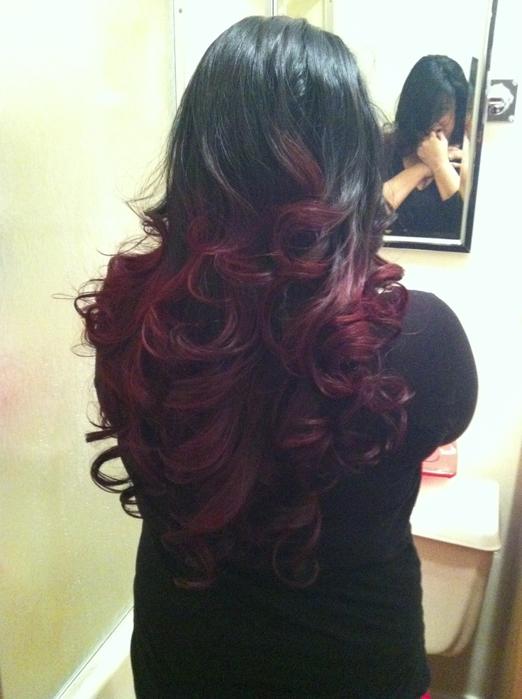 Black and red ombre | Hair | Pinterest