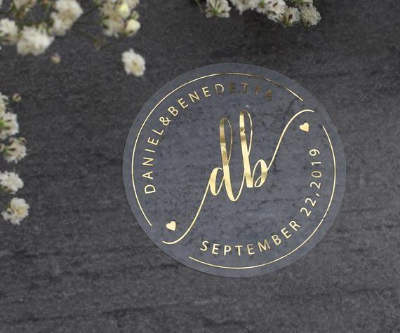 Gold Wedding Stickers Foil Wedding Labels Rose Gold Favor Etsy In 2020 Custom Wedding Stickers Wedding Stickers Wedding Labels