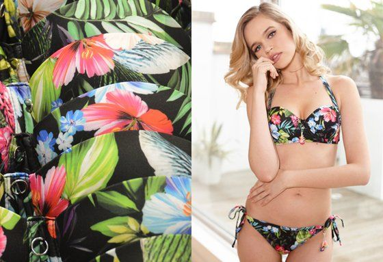 This gorgeous Bikini Set is designed and handmade in the UK.
