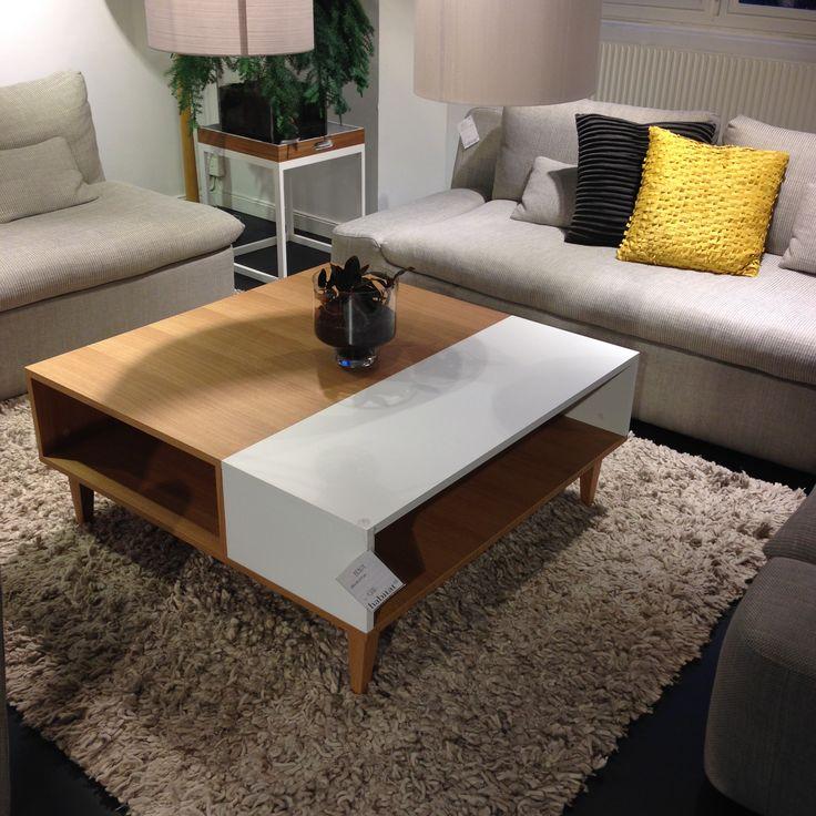 Soffbordet Benjy med smarta förvaringshyllor för tidningar med mera. 100x100x44cm, 4.500kr. #habitatsverige #soffbord