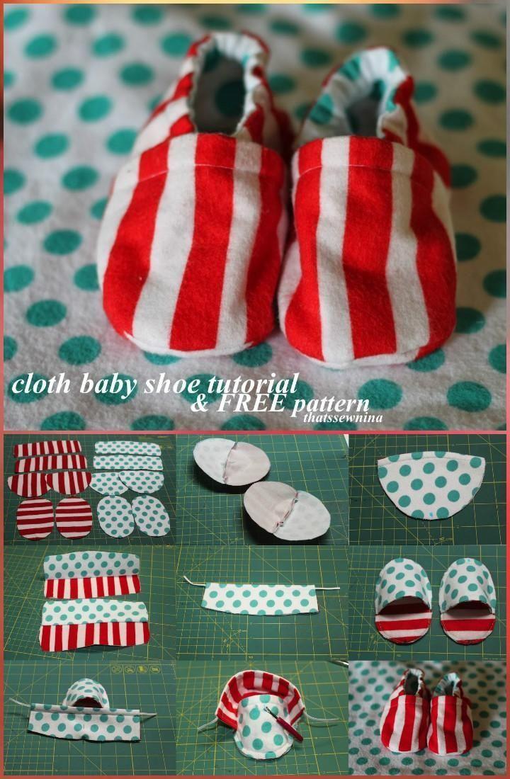 Handmade Stoff Babyschuhe – Babyschuhe für über 55 mit kostenlosen Mustern und Anweisungen   – nähen