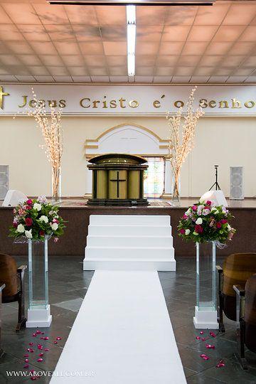 De Igreja Evangelica no Pinterest  Decoração de igreja, Casamentos