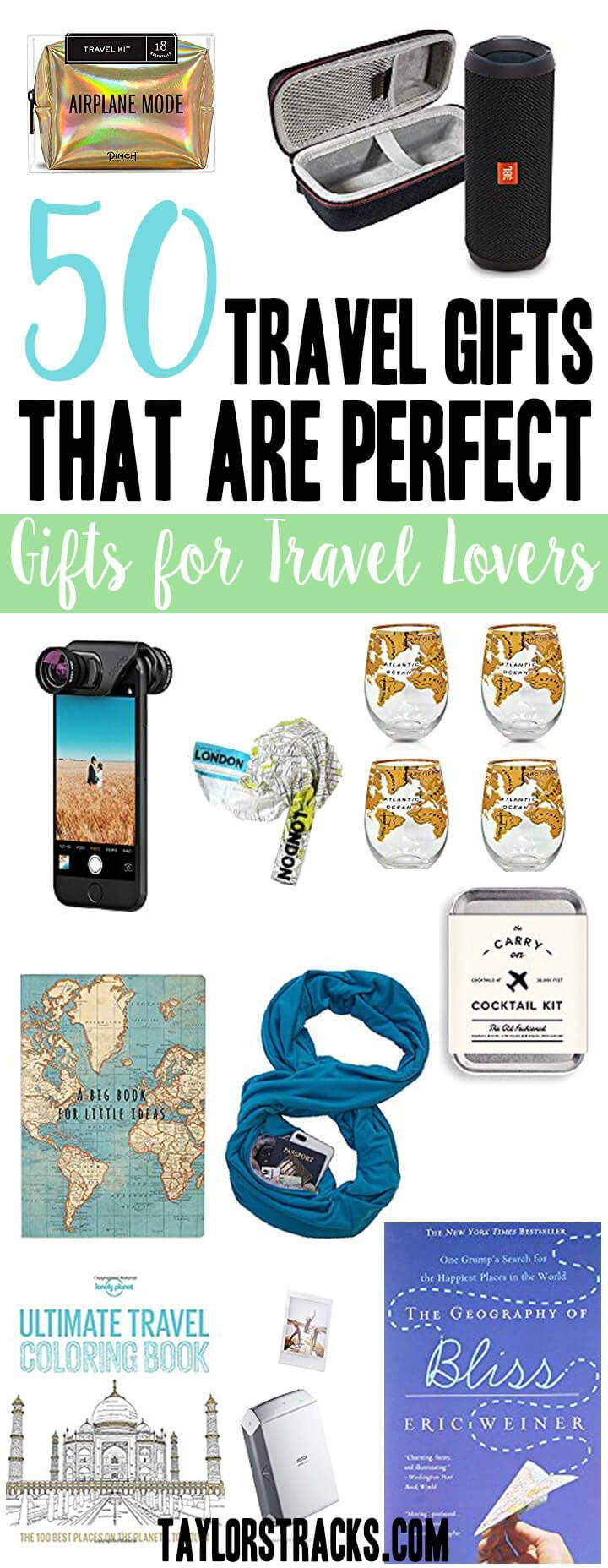 Have no idea what travel gifts to get for the travel lover on your list? Look no further! Click here to get fun, practical and must-have items for every traveler.