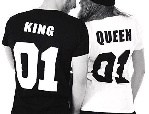 Cold & Heartless Partner Look Pärchen T-Shirt Set King Queen T-Shirts Hochzeitstagsgeschenk Geburtstagsgeschenk Jahrestagsgeschenk, http://www.amazon.de/dp/B01LFPE1VC/ref=cm_sw_r_pi_awdl_xs_kmdjybWCFBCBQ