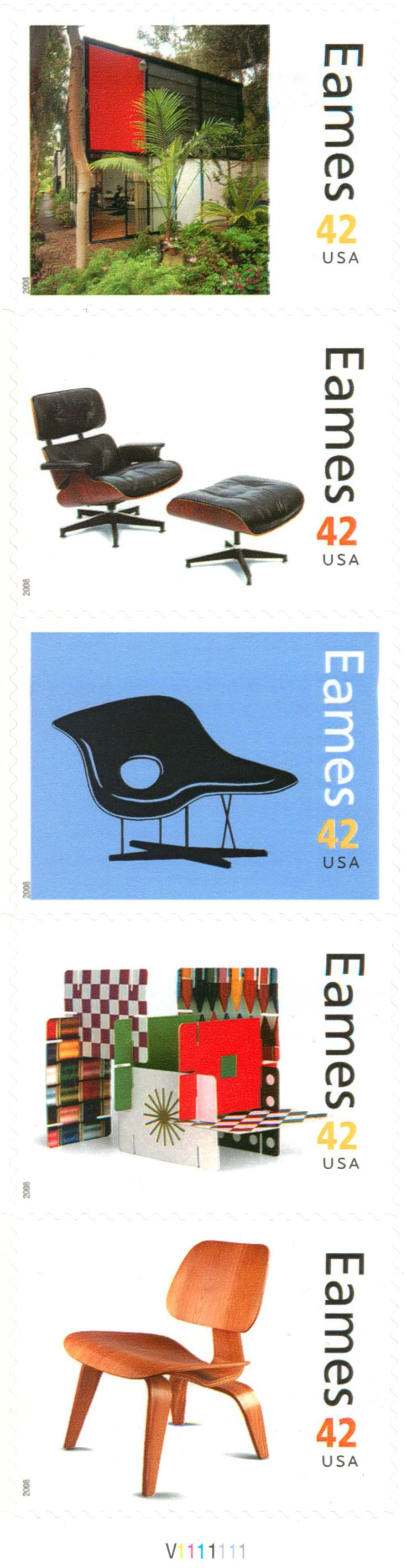 Have you collected Eames stamps? Stamps designed for the U.S.P.S. by Derry Noyes, daughter of Elliot Noyes, noted museum curator and IBM in-house design chief and friend of Charles and Ray Eames http://uspsstamps.com/people/derry-noyes