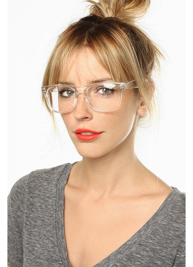 655dbb87aa4ae Jude Large Unisex Transparent Horn Rimmed Clear Frame Glasses ...