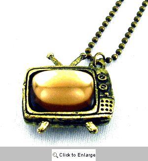Old School TV Set Necklace