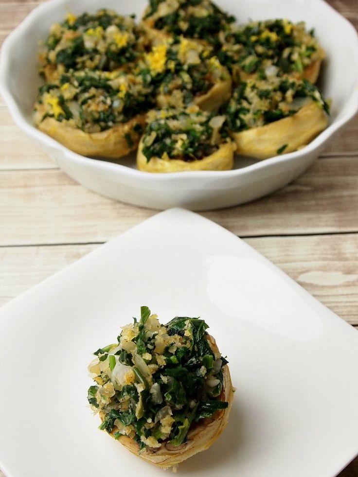 Stuffed Artichoke Bottoms Recipe - JoyOfKosher.com: Food Recipes, Kosher Recipes, Bottoms Recipes, Vegetarian Recipes