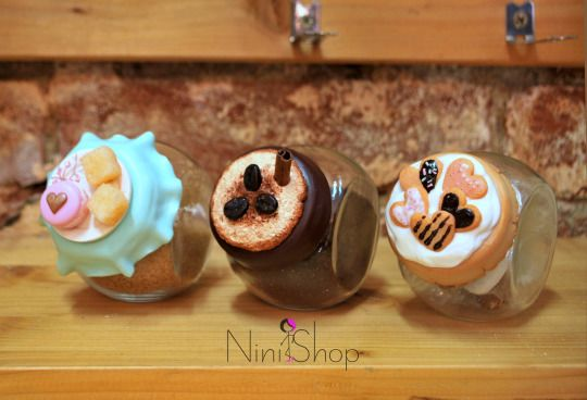 Sweet Alchemy. Jars for your kitchen decorated with polymer clay.