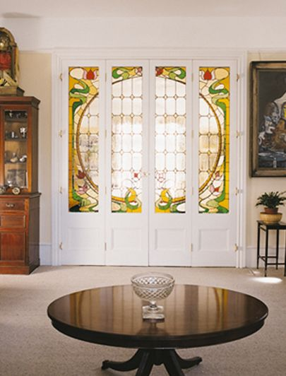 A real art nouveau feel to this internal door by The London Door Company.