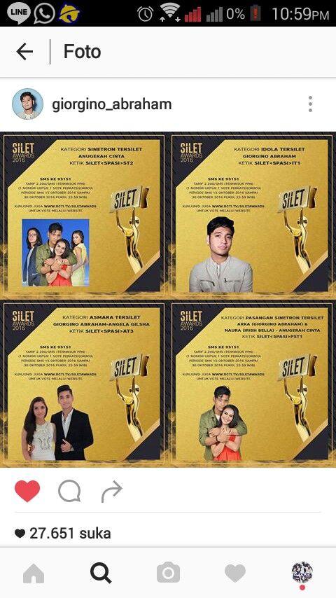 Nominasi Gino @ Silet awards
