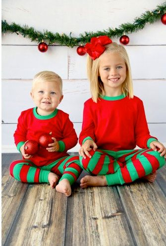 Personalized Kids Christmas PJs  Kids by LEmbroideryAndDesign