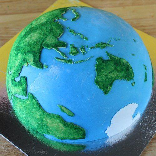 receta de la tarta para nios con forma de planeta tierra