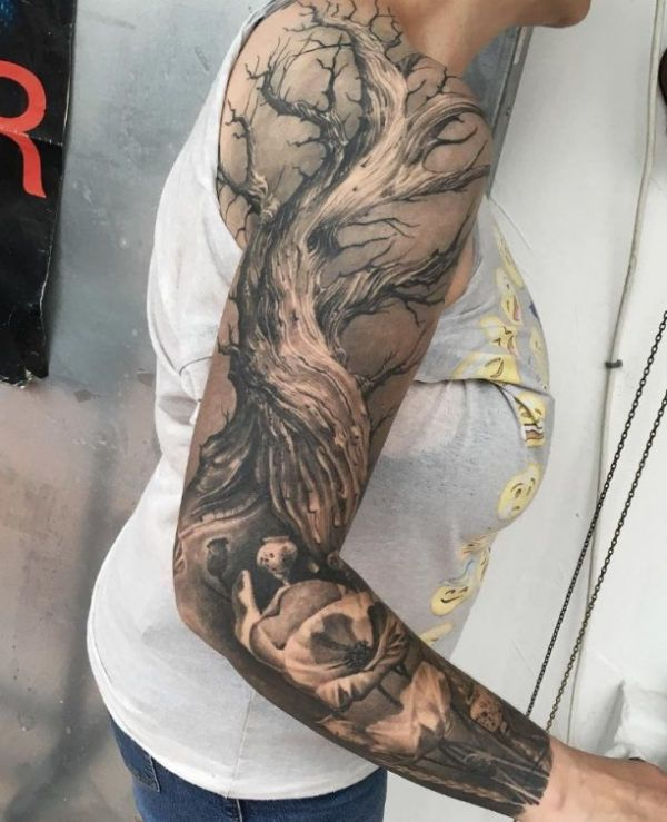 best 25 tree tattoo sleeves ideas on pinterest forest tattoo sleeve tree sleeve tattoo and. Black Bedroom Furniture Sets. Home Design Ideas