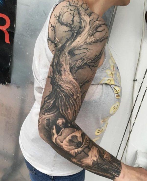 Arm Tattoo Tree  - http://tattootodesign.com/arm-tattoo-tree/  |  #Tattoo, #Tattooed, #Tattoos
