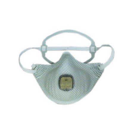 EZ-ON N95 Particulate Respirators, Single Strap, Non-oil Vapor, M/L, 10/bag, White