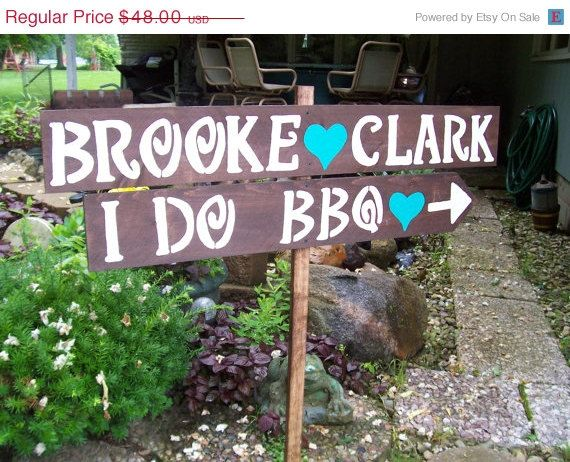 I DO BBQ sign  Wedding Signs  rustic wedding  by primitivearts