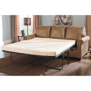 Shop for Signature Design by Ashley Lottie Durablend Almond Queen Sofa Sleeper. Get free shipping at Overstock.com - Your Online Furniture Outlet Store! Get 5% in rewards with Club O! - 17748330