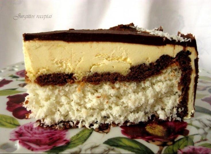 """Fatastiškas kokosinis tortas """"Bounty"""""""