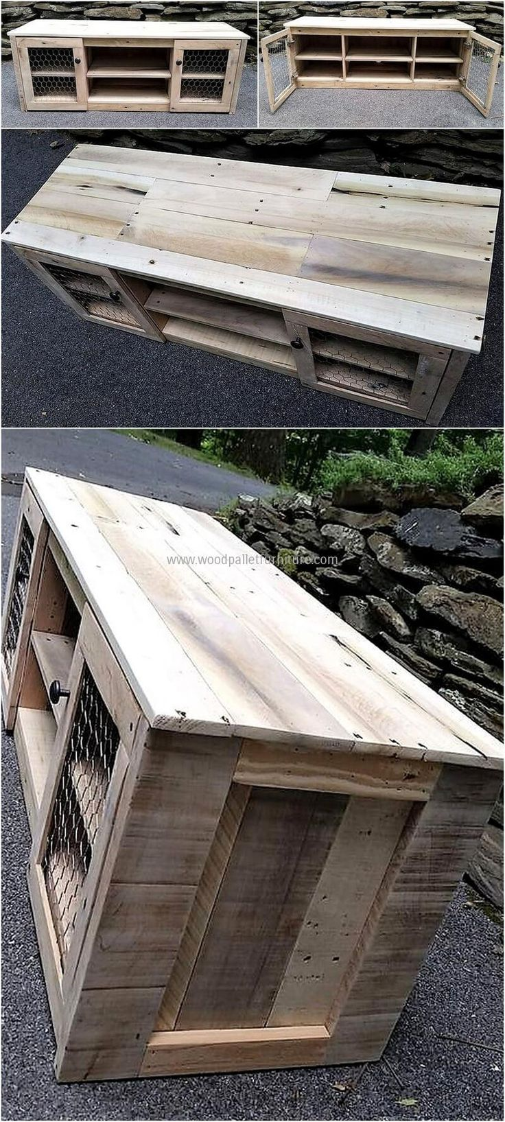 pallets wooden media console