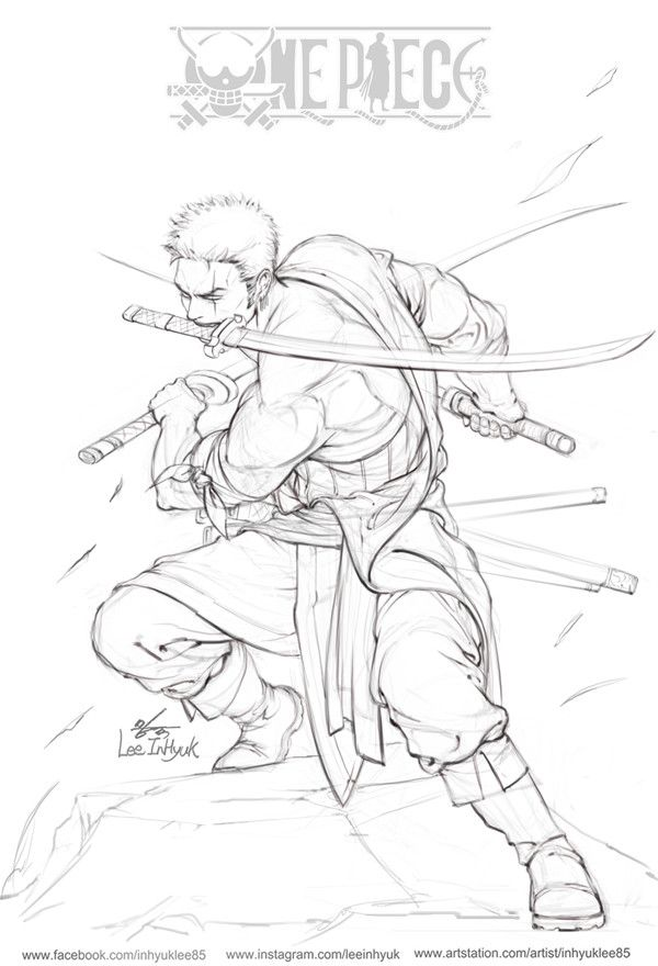 Artstation One Piece Roronoa Zoro Inhyuk Lee With Images