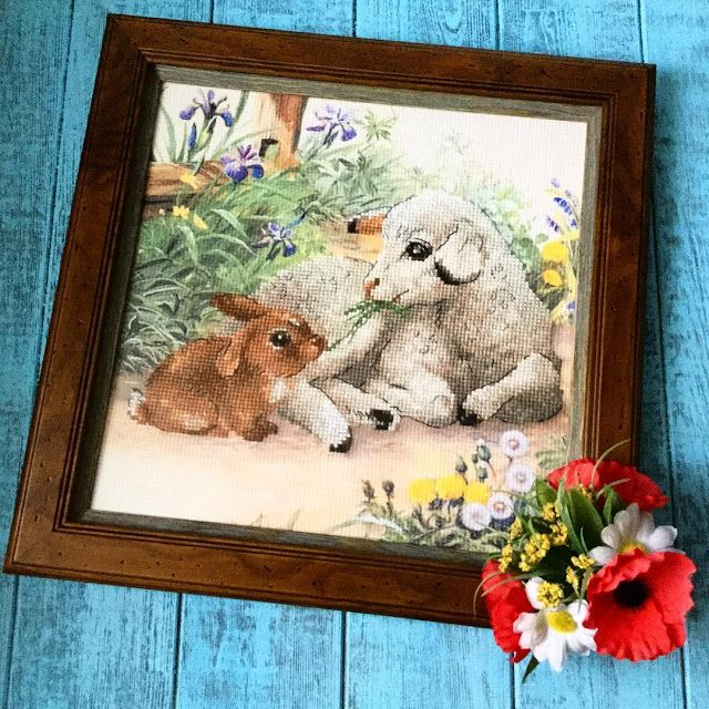 """Риолис """"Ягненок и кролик"""""""