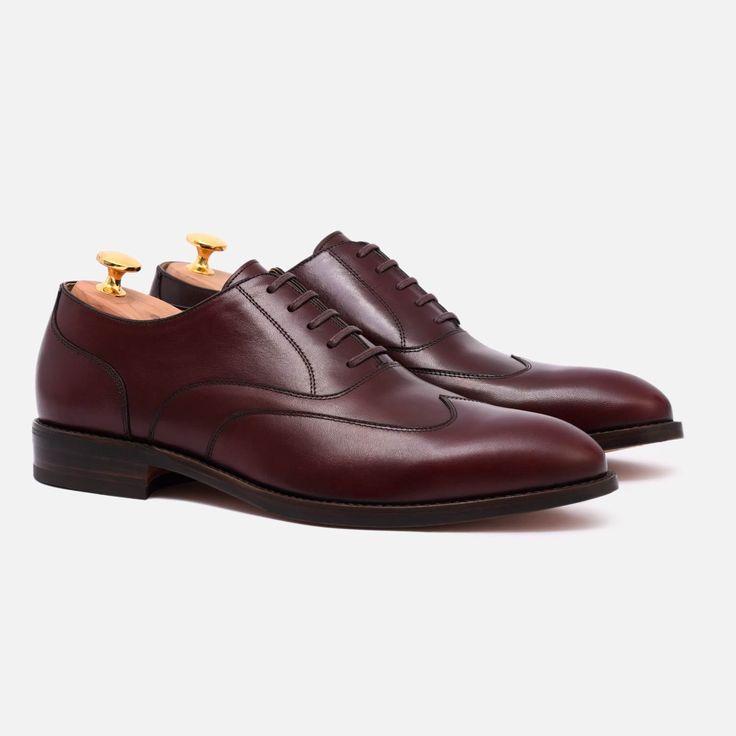Wright Austerity Brogue - Calfskin Leather - Bordeaux