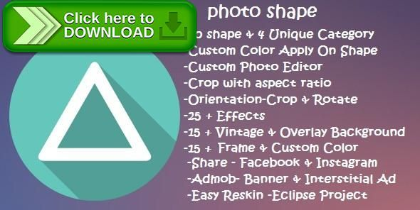 [ThemeForest]Free nulled download Photo Shape from http://zippyfile.download/f.php?id=50742 Tags: ecommerce, admob, color, effects, frame, gruange, insta shape, overlay, photo, photo editor, pic shape, shape