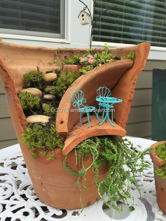 Broken Terracotta Miniature Garden