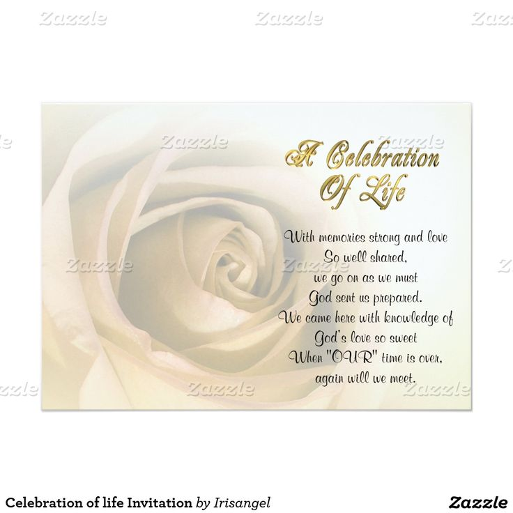 100 best Celebration of life Invitations images on Pinterest - celebration of life templates