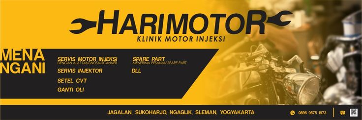 A banner for motorcycle sevice from Jogja, Indonesia. Motorcycle. Bike. Auto service. Banner. Logo.