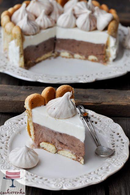 Domowa cookierenka Agi: Lodowy tort semifreddo czekoladowo-śmietankowy (be...