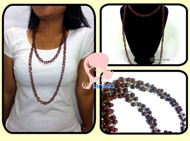 Belanja Aksesoris Wanita Online: [KG 009] Kalung Manik Merah