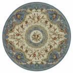 Chelsea Blue 8 ft. x 8 ft. Round Area Rug