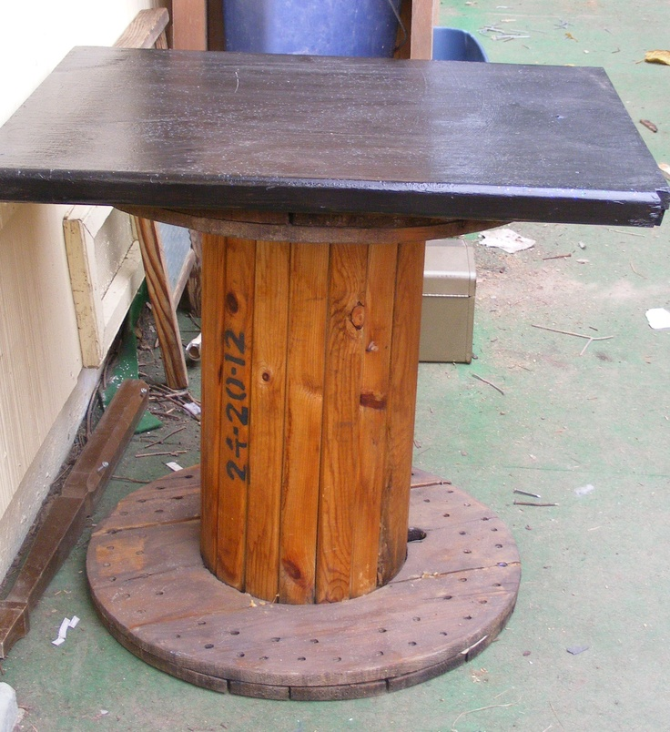 Rustic Table Made From An Old Wire Spool