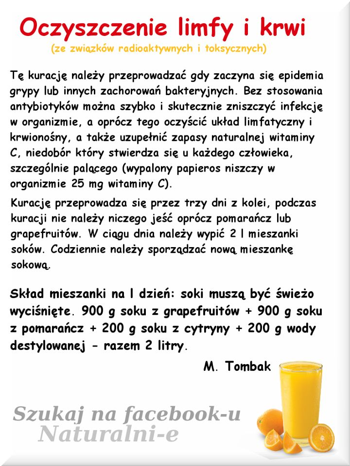 oczyszczanie limfy i krwi M.Tombak