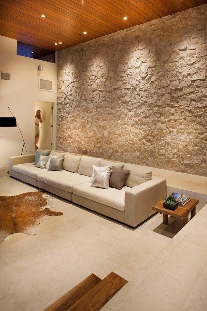 1001 Breathtaking Accent Wall Ideas For Living Room Stone