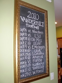 I love this framed chalkboard....cute for kitchen