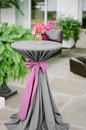 Table decor for reception
